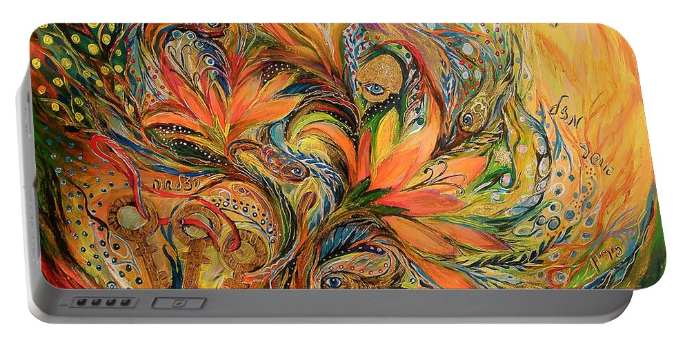 Original Portable Battery Charger featuring the painting The Dream by Elena Kotliarker