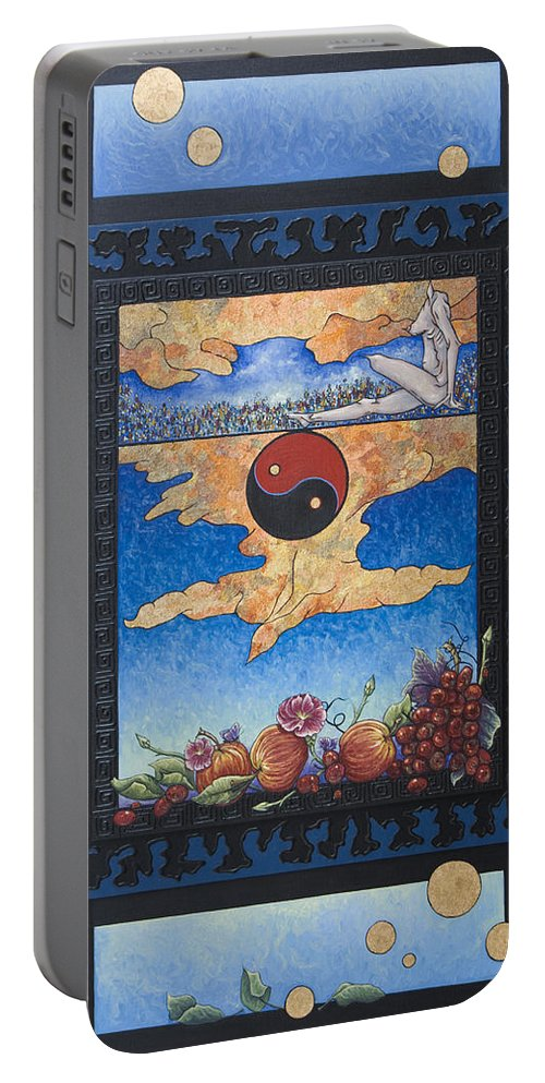 Karma Portable Battery Charger featuring the painting The Dream by Judy Henninger