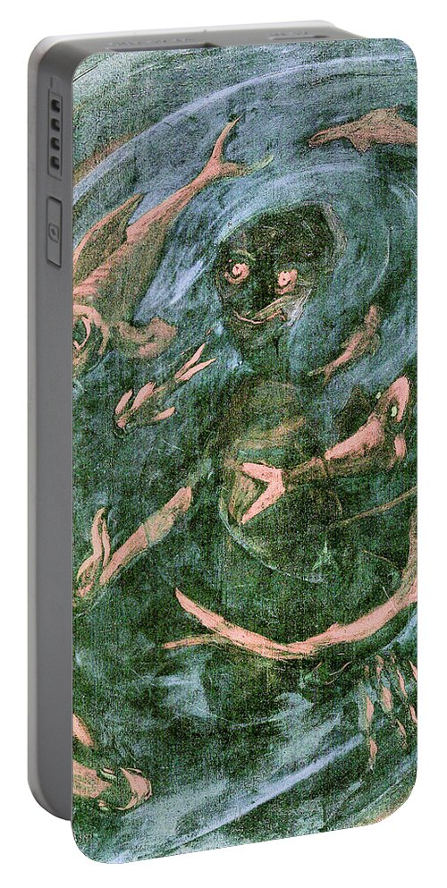 Fish Portable Battery Charger featuring the painting The Dream Of The Fish 1 By Walter Gramatte by Walter Gramatte