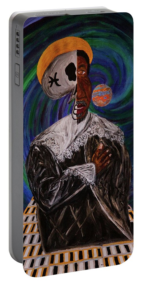 Painting Portable Battery Charger featuring the painting The Dreamer by Rufus J Jhonson