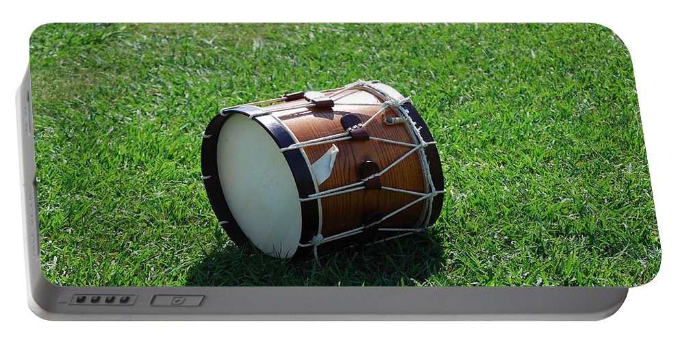Drum Portable Battery Charger featuring the photograph The Drum by Eric Liller