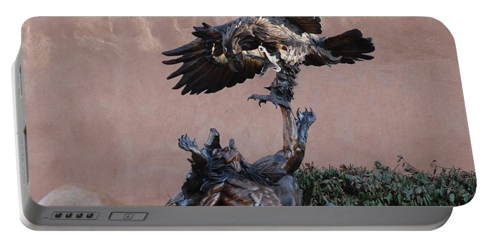 Eagle Portable Battery Charger featuring the photograph The Eagle And The Indian by Rob Hans