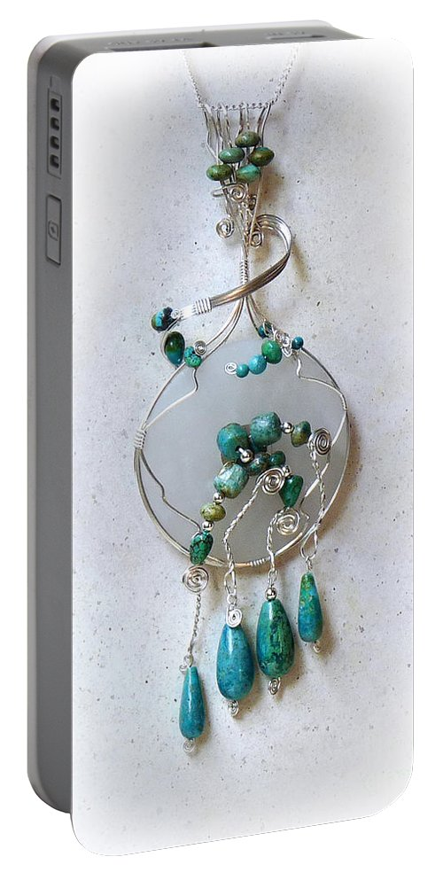 Sterling Silver Portable Battery Charger featuring the photograph The Earth And Sky And Sea by Rhonda Chase