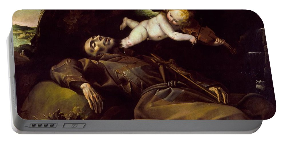 Pier Francesco Mazzucchelli (attributed To) (called Morazzone) - The Ecstasy Of Saint Francis Portable Battery Charger featuring the painting The Ecstasy Of Saint Francis by MotionAge Designs