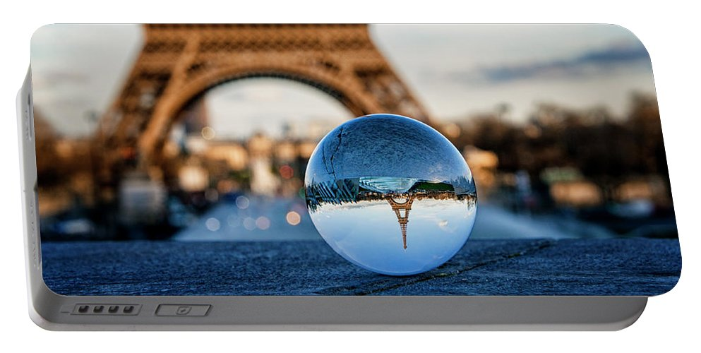 Paris Portable Battery Charger featuring the photograph The Eiffeltower by Jane Svensson