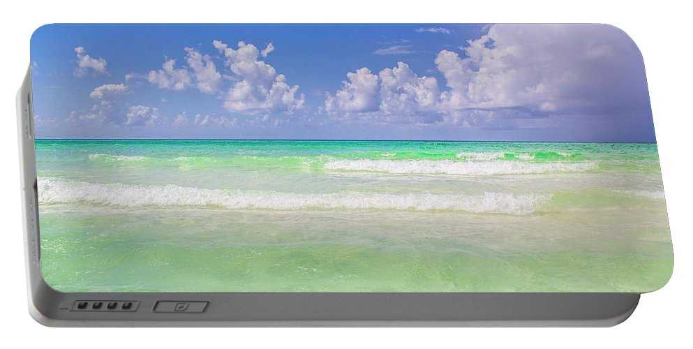 Destin Florida Portable Battery Charger featuring the photograph The Emerald Shore Of Destin, Fl by Damien Tullier