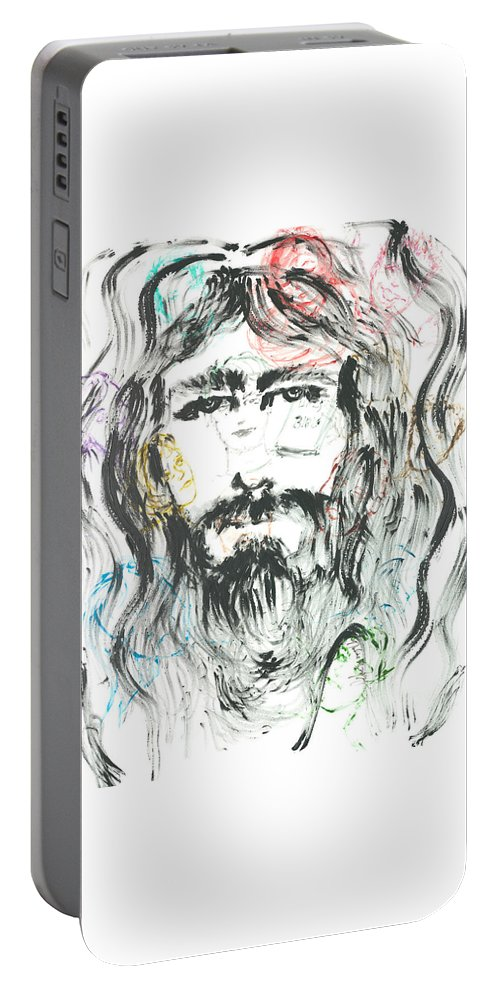 Jesus Portable Battery Charger featuring the painting The Emotions Of Jesus by Nadine Rippelmeyer