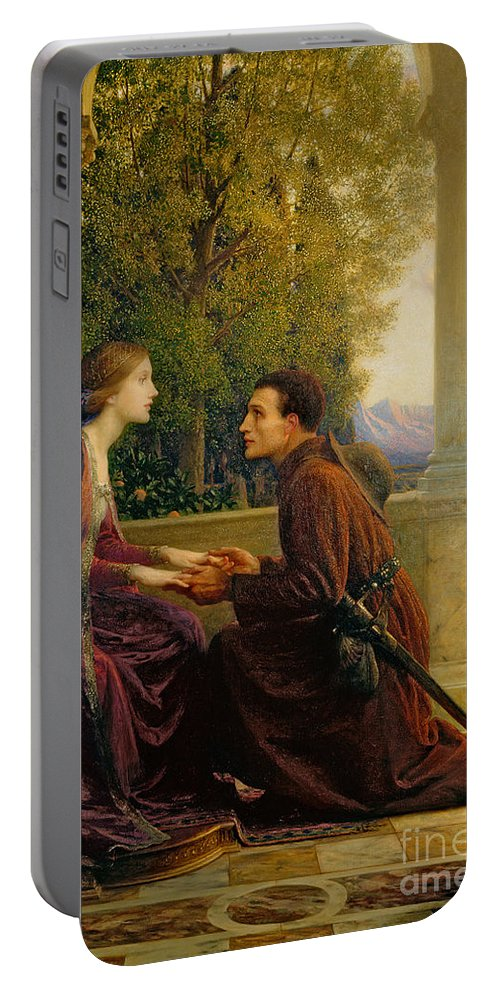 The Portable Battery Charger featuring the painting The End Of The Quest by Sir Frank Dicksee