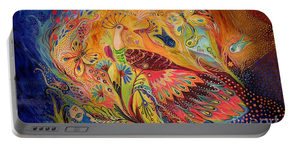 Original Portable Battery Charger featuring the painting The Eternal Dance by Elena Kotliarker