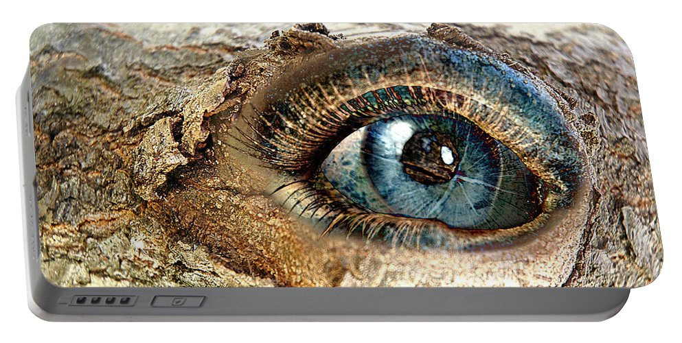 Eye Portable Battery Charger featuring the digital art The Eye Of Nature 1 by Lisa Yount