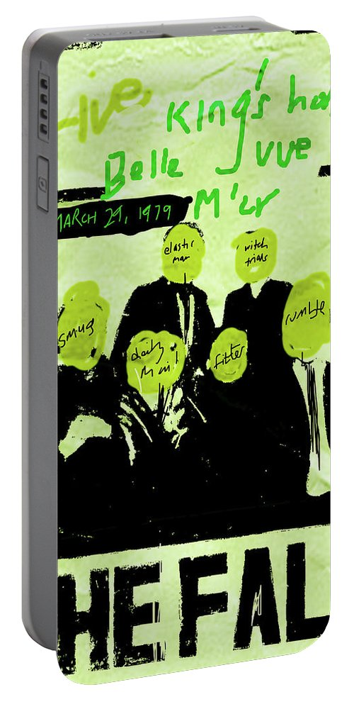 The Fall Portable Battery Charger featuring the mixed media The Fall - Live 1979 by Enki Art