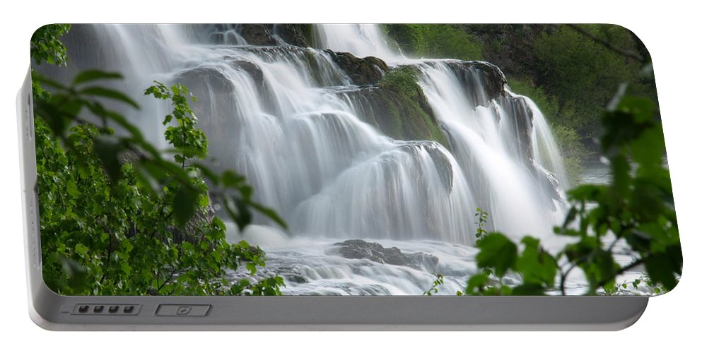 Water Portable Battery Charger featuring the photograph The Falls by DeeLon Merritt