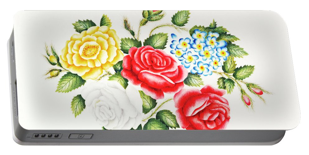 Family Portable Battery Charger featuring the photograph The Family of Roses by Munir Alawi