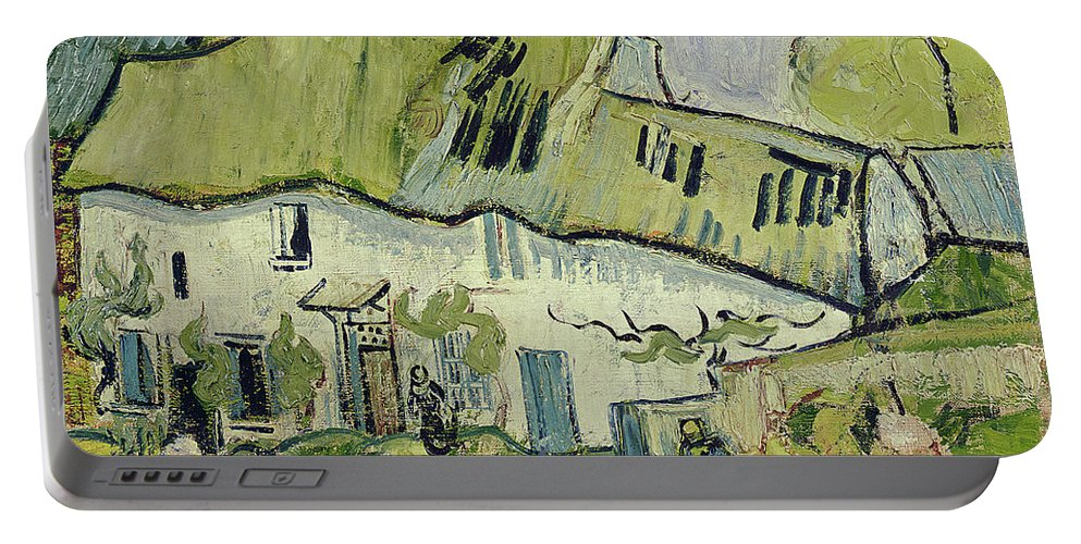 The Farm In Summer Portable Battery Charger featuring the painting The Farm In Summer by Vincent van Gogh