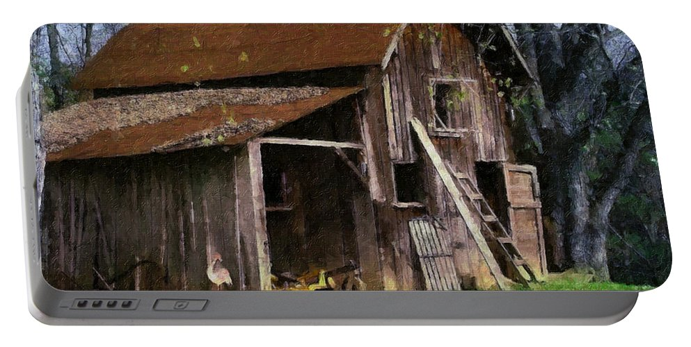 Farm Portable Battery Charger featuring the painting The Farm by Teresa Mucha