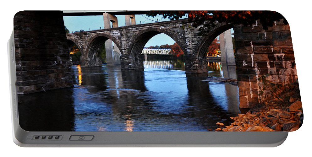 The Five Bridges - East Falls - Philadelphia Portable Battery Charger featuring the photograph The Five Bridges - East Falls - Philadelphia by Bill Cannon