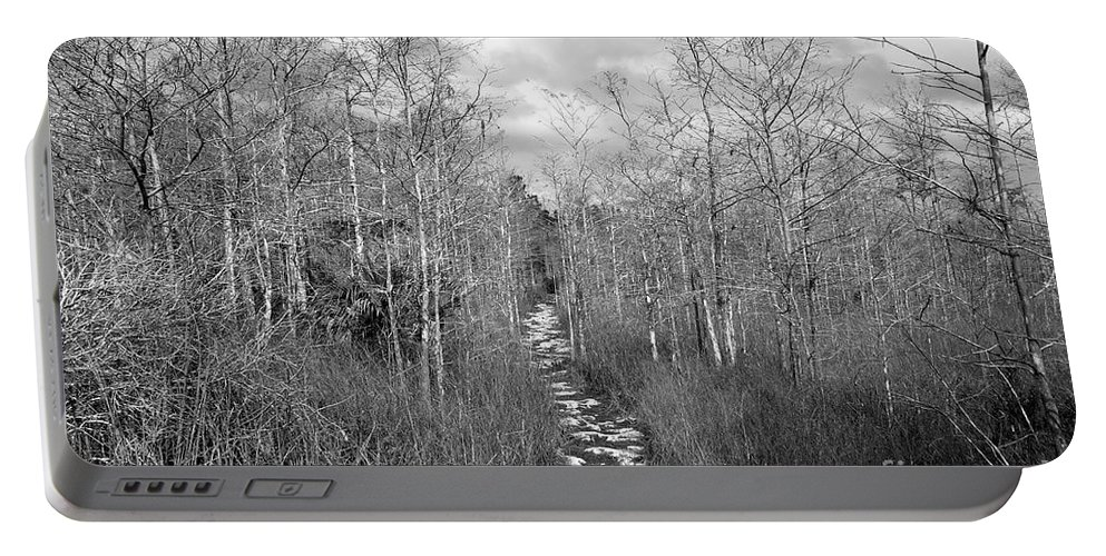 Everglades Portable Battery Charger featuring the photograph The Florida Trail by David Lee Thompson