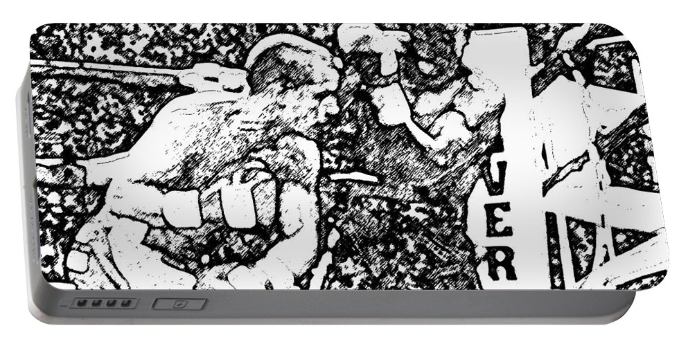 Prize Fighting.boxing Portable Battery Charger featuring the photograph The Follow Through by David Lee Thompson