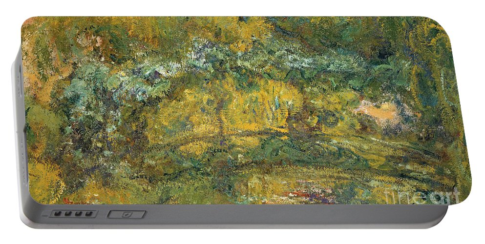 Bridge Portable Battery Charger featuring the painting The Footbridge Over The Waterlily Pond, 1919 by Claude Monet