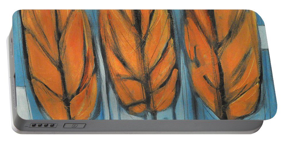 Trees Portable Battery Charger featuring the painting The Four Seasons - Fall by Tim Nyberg