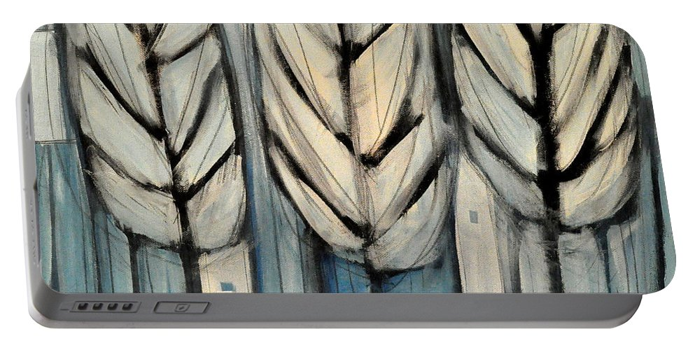 Trees Portable Battery Charger featuring the painting The Four Seasons - Winter by Tim Nyberg