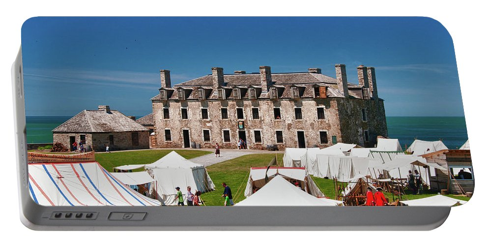 French Castle Portable Battery Charger featuring the photograph The French Castle 6709 by Guy Whiteley