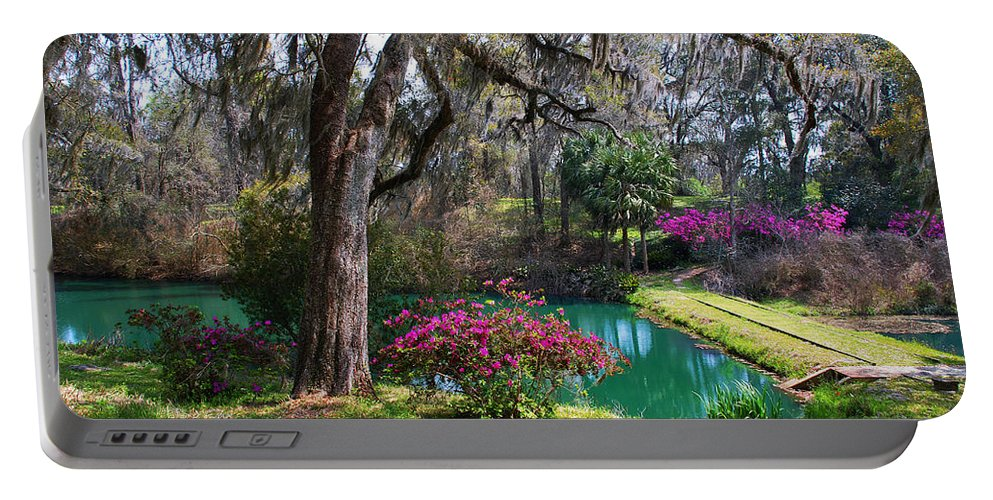 Garden Photo Portable Battery Charger featuring the photograph The Garden In The Abbey by Susanne Van Hulst