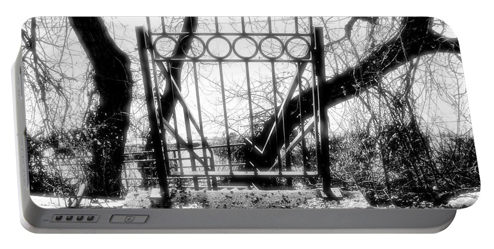 Gate Portable Battery Charger featuring the photograph The Gate by Susan Kinney