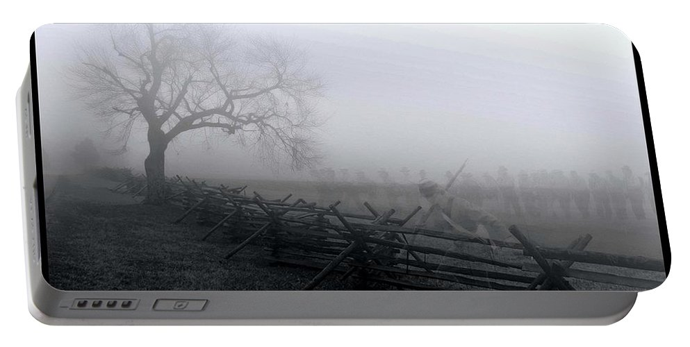 Civil War Portable Battery Charger featuring the photograph The Ghosts Of Virginia by Tommy Anderson