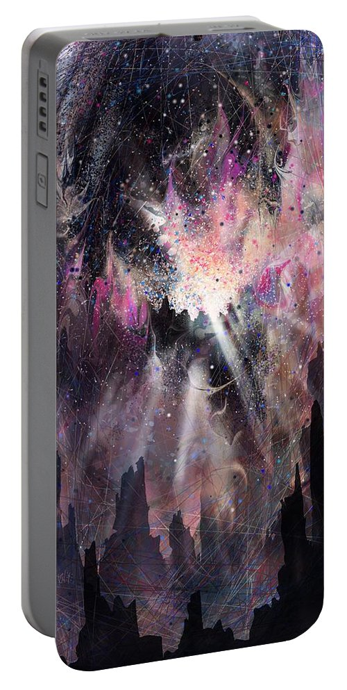 Landscape Portable Battery Charger featuring the digital art The Gift by William Russell Nowicki
