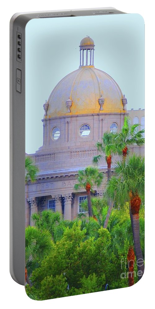 Church Portable Battery Charger featuring the photograph The Gold Dome by Jost Houk