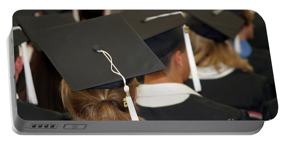 Graduate Portable Battery Charger featuring the photograph The Graduates by Madeline Ellis