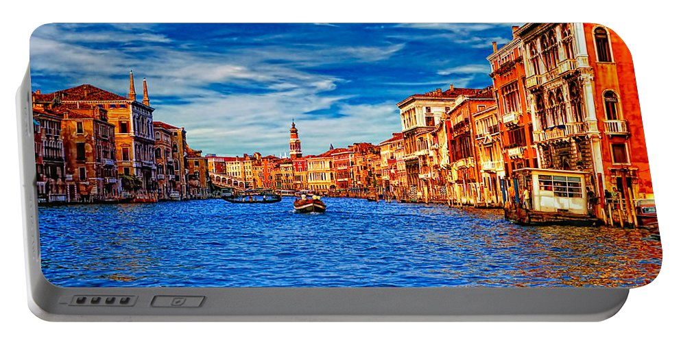 Venice Portable Battery Charger featuring the photograph The Grand Canal by Steve Harrington