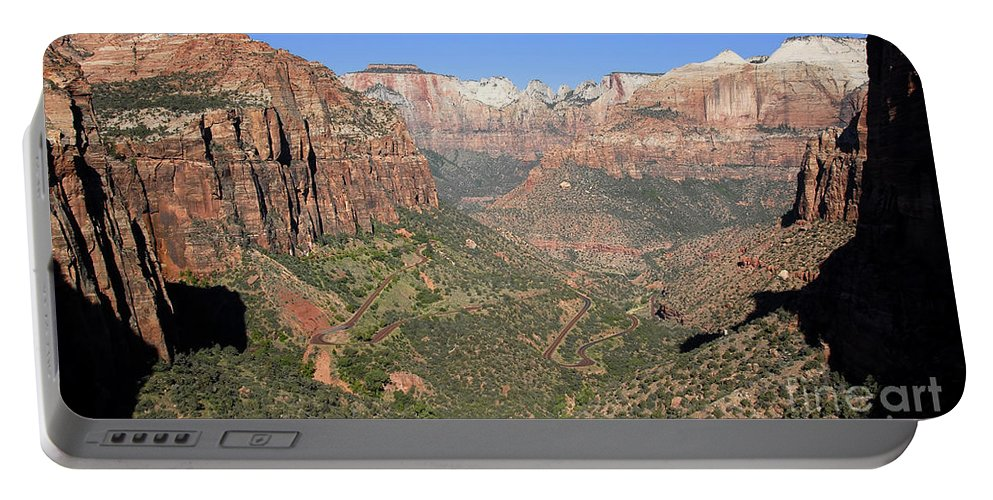Fine Art Photography Portable Battery Charger featuring the photograph The Great Canyon Of Zion by David Lee Thompson