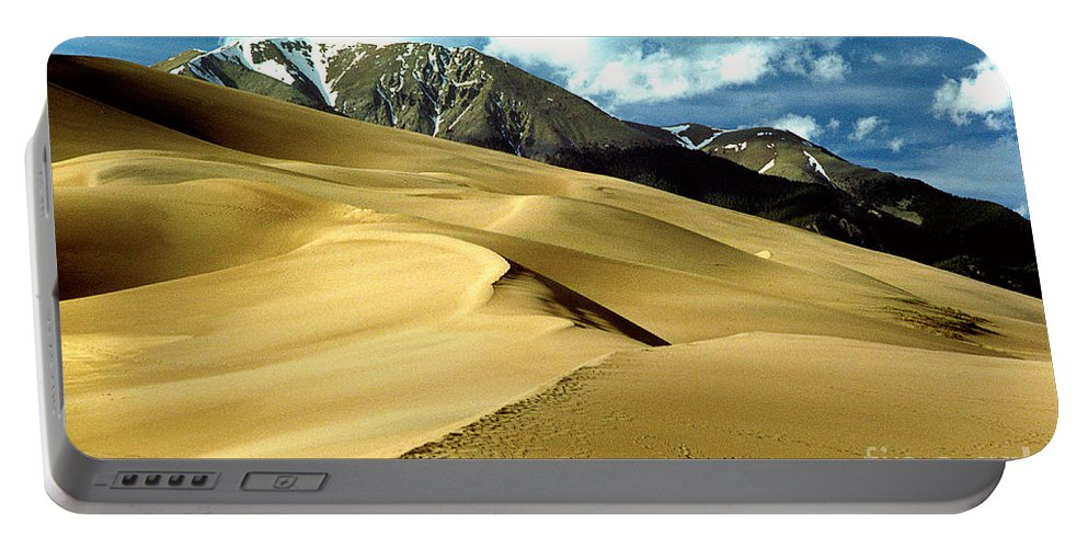 Sand Dunes Portable Battery Charger featuring the photograph The Great Colorado Sand Dunes Color Print by James BO Insogna