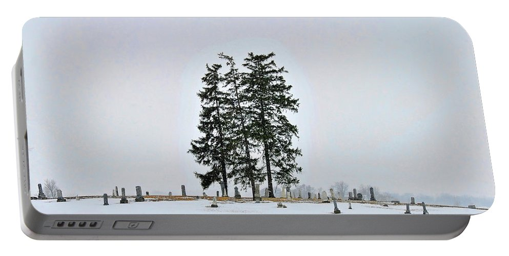 Pine Portable Battery Charger featuring the photograph The Guardians by David Arment