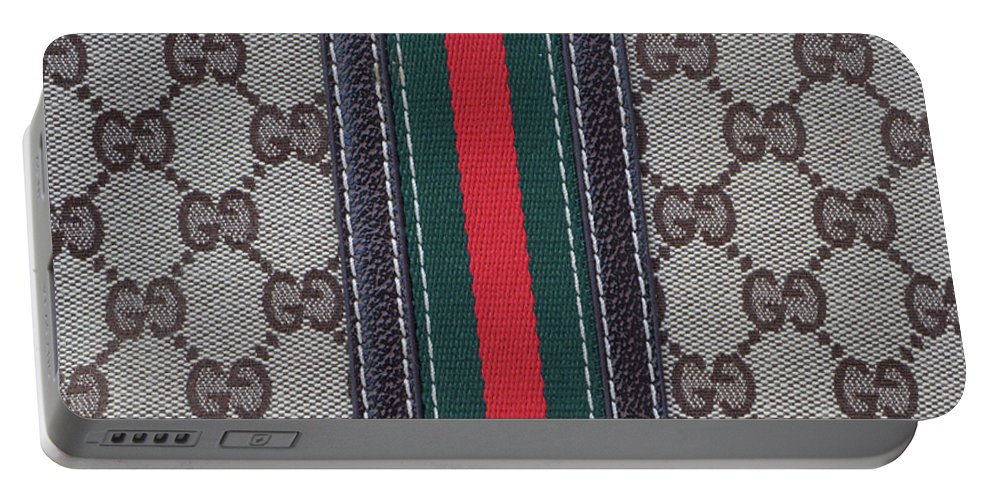 Gucci Portable Battery Charger featuring the photograph The Gucci Monograms by To-Tam Gerwe
