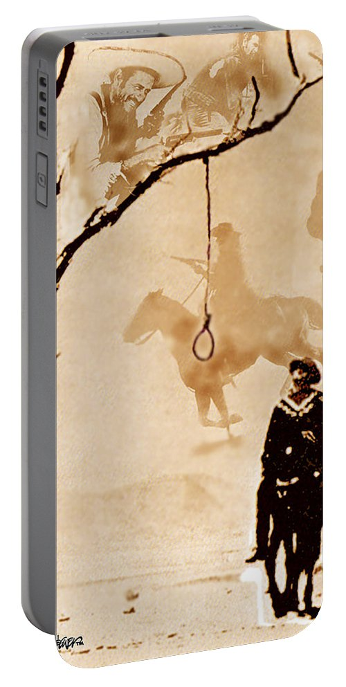 Clint Eastwood Portable Battery Charger featuring the digital art The Hangman's Tree by Seth Weaver