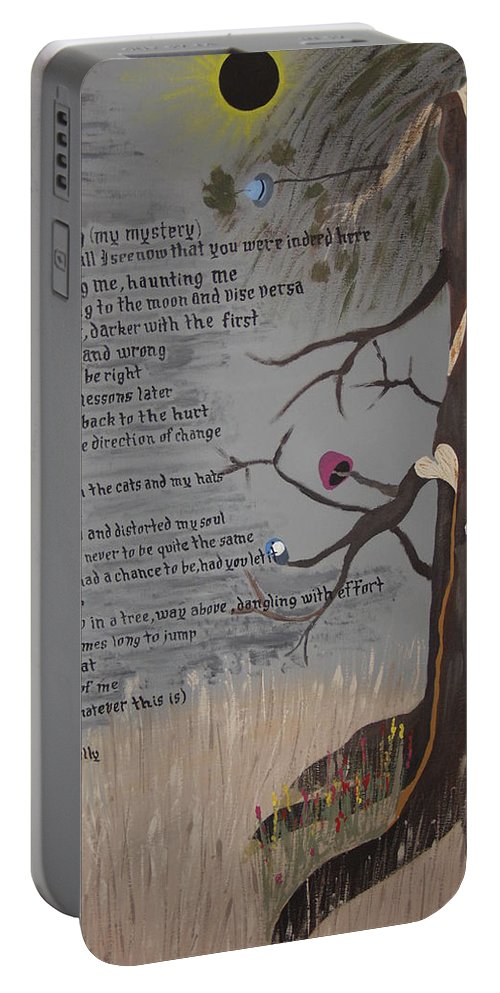 Poetry Portable Battery Charger featuring the painting The Haunting by Dean Stephens