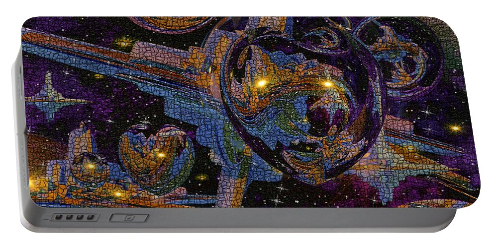 Phil Sadler Portable Battery Charger featuring the digital art The Heart Of The Emissary by Phil Sadler