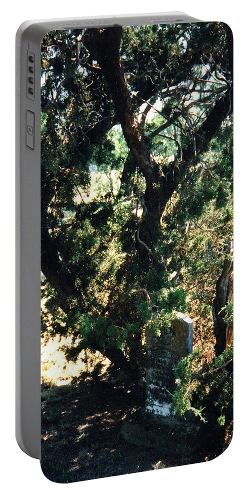 Hidden Grave Stone Mesquite Portable Battery Charger featuring the photograph The Hidden Grave by Cindy New