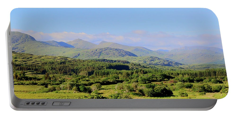 Landscape Hills Portable Battery Charger featuring the photograph The Hills Of Southern Ireland by Keith Thain