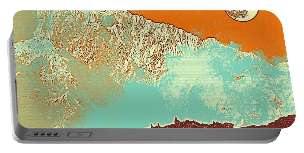 Nature Portable Battery Charger featuring the painting The Himalayas by Celestial Images