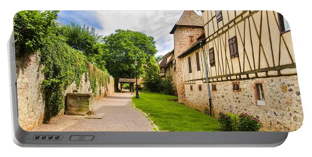Alsace Portable Battery Charger featuring the photograph Riquewihr, Alsace, France by Marco Arduino