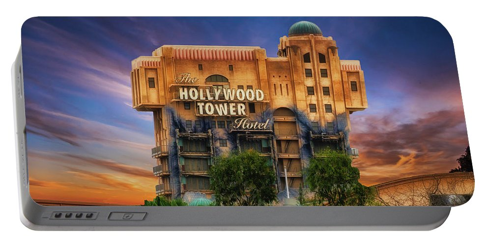 Hollywood Tower Hotel Disneyland Portable Battery Charger featuring the photograph The Hollywood Tower Hotel Disneyland by Thomas Woolworth