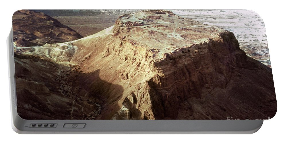 20th Century Portable Battery Charger featuring the photograph The Holy Land: Masada by Granger