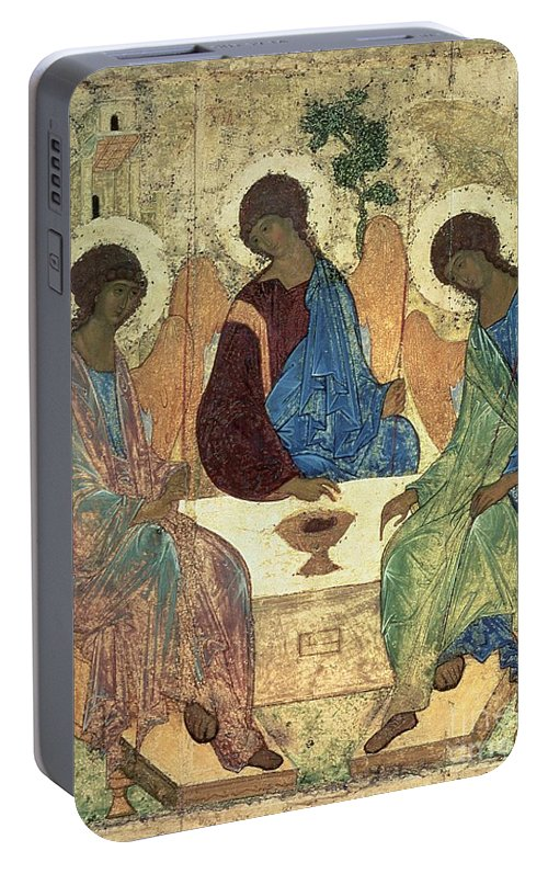 The Portable Battery Charger featuring the painting The Holy Trinity by Andrei Rublev