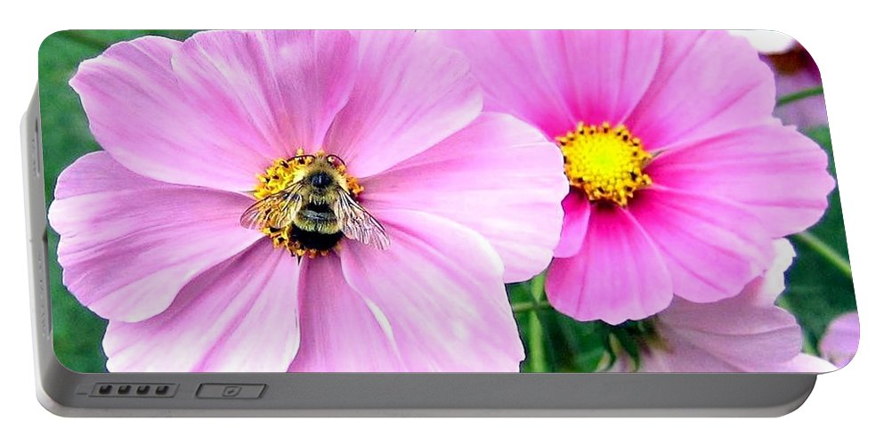 Bee Portable Battery Charger featuring the photograph The Honeymaker by Will Borden