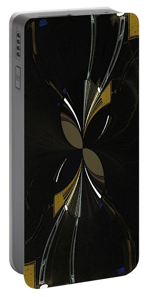 Abstract Portable Battery Charger featuring the digital art The Hourglass by Tim Allen