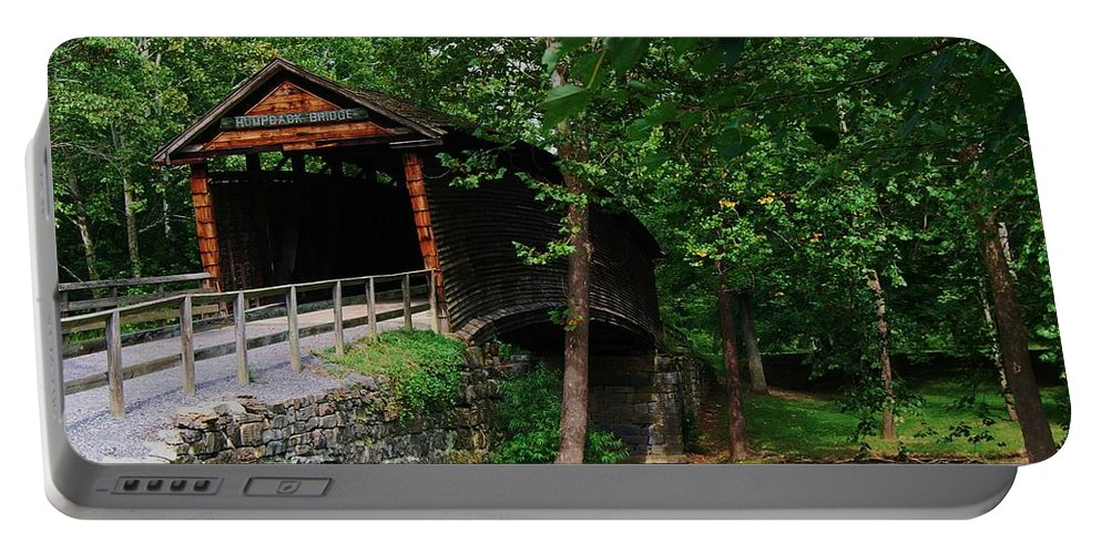 Covered Bridge Portable Battery Charger featuring the photograph The Humpback Bridge by Eric Liller